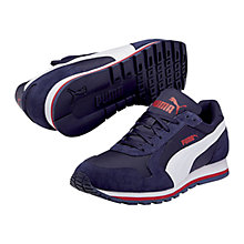 Buy Puma ST Runner Trainers, Navy/Red Online at johnlewis.com
