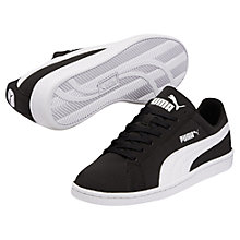 Buy Puma Smash Leather Trainers, Black Online at johnlewis.com