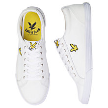 Buy Lyle & Scott Halket Leather Trainers, White Online at johnlewis.com