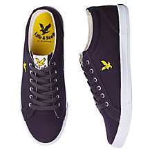Buy Lyle & Scott Halket Canvas Trainers, Solid Grey Online at johnlewis.com
