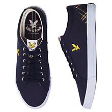 Buy Lyle & Scott Halket Scotts Tartan Plimsolls, New Navy Online at johnlewis.com