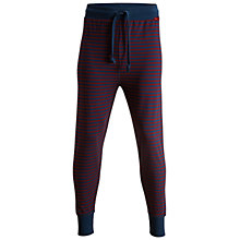 Buy Bjorn Borg Henley Stripe Lounge Pants, Blue/Burgundy Online at johnlewis.com