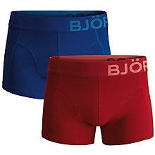 Buy Bjorn Borg Seasonal Solids Trunks, Pack of 2, Red/Blue Online at johnlewis.com