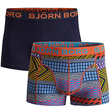 Buy Bjorn Borg Tibetan Tribe Trunks, Pack of 2, Multi Online at johnlewis.com