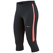 Buy Saucony Ignite Capri Running Tights, Black/ViZiPRO Coral Online at johnlewis.com