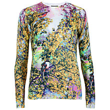 Buy Ted Baker Pretty Trees Printed Jumper, Dusky Pink Online at johnlewis.com