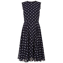Buy Hobbs Priya Dress, Navy Ivory Online at johnlewis.com
