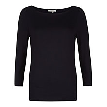 Buy Hobbs Sonya Top, Navy Online at johnlewis.com
