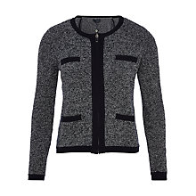 Buy Viyella Collarless Tweed Cardigan, Navy Online at johnlewis.com
