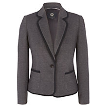 Buy Viyella Textured Ponte Blazer, Grey Online at johnlewis.com