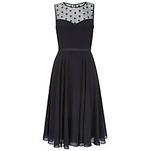 Buy Hobbs Marigold Dress, Navy Online at johnlewis.com