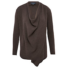 Buy Viyella Zip Detail Cardigan, Truffle Online at johnlewis.com