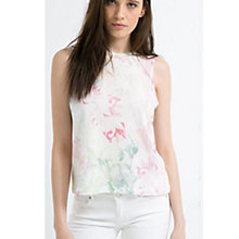 Buy Mango Tropical Print Shell Top, Pastel Orange Online at johnlewis.com