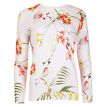 Buy Ted Baker Botanical Bloom Jumper, Pale Pink Online at johnlewis.com