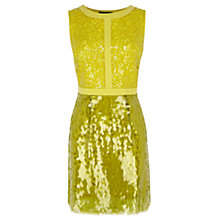 Buy Coast Kenzie Sequin Dress, Yellow Online at johnlewis.com