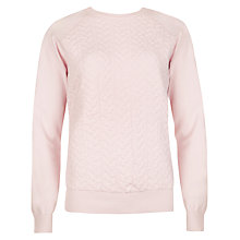 Buy Ted Baker Cable Knitted Sweatshirt, Pale Pink Online at johnlewis.com
