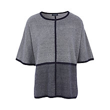 Buy Viyella Knitted Poncho, Blue Online at johnlewis.com