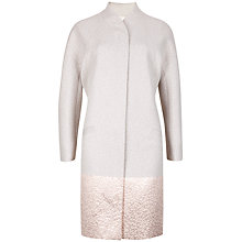Buy Ted Baker Jacquard Cocoon Coat, Natural Online at johnlewis.com