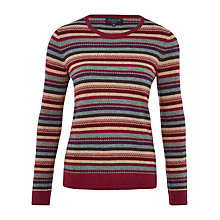 Buy Viyella Fair Isle Stripe Jumper, Multi Online at johnlewis.com