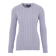 Buy Viyella Cable Knit Jumper, Parma Violet Online at johnlewis.com