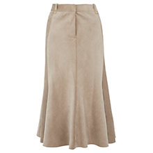 Buy Viyella Petite Fit and Flare Cord Skirt, Natural Online at johnlewis.com