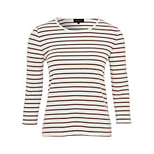 Buy Viyella Stripe Jersey Top, Truffle Online at johnlewis.com