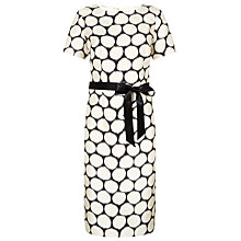 Buy Jacques Vert Blurred Spot Printed Dress, White/Black Online at johnlewis.com