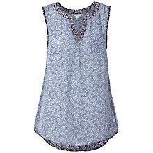 Buy White Stuff Yukata Vest, Darkest Periwinkle Online at johnlewis.com