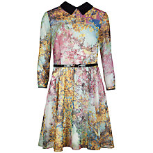 Buy Ted Baker Pretty Trees Printed Dress, Dusky Pink Online at johnlewis.com