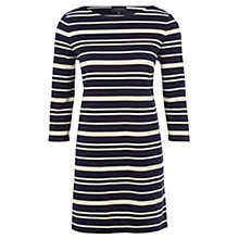 Buy Viyella Ponte Stripe Tunic Dress, Navy Online at johnlewis.com