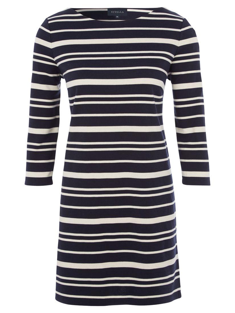 viyella ponte stripe tunic dress navy, viyella, ponte, stripe, tunic, dress, navy, clearance, womenswear offers, womens dresses offers, women, plus size, womens dresses, special offers, 1551052