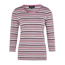 Buy Viyella Petite Fair Isle Top, Orchid Online at johnlewis.com