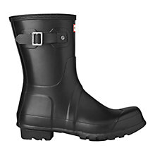 Buy Hunter Men's Original Short Wellington Boots, Black Online at johnlewis.com