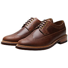 Buy Grenson Sid Long Wing Brogue Shoes, Nutmeg Buffalo Online at johnlewis.com