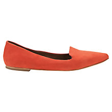 Buy Jigsaw Cecile Leather Pointed Flat Pumps Online at johnlewis.com