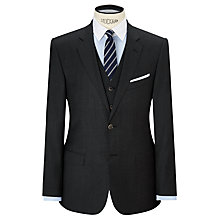 Buy Hackett London Sharkskin Super 110s Wool Suit Jackett, Charcoal Online at johnlewis.com