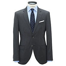 Buy Hackett London Wool Twill Single Breasted Suit Jacket, Grey Online at johnlewis.com