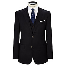 Buy Hackett London Wool Twill Single Breasted Suit Jacket, Navy Online at johnlewis.com