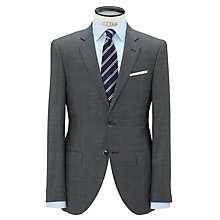 Buy Hackett London Super 120s Wool Tailored Suit Jacket, Grey Online at johnlewis.com