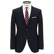 Buy Hackett London Pinstripe Tailored Suit Jacket, Navy Online at johnlewis.com