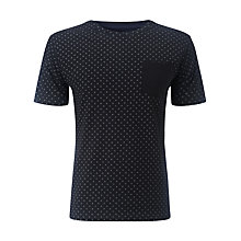 Buy Selected Homme New Christo Dot T-Shirt, Black Online at johnlewis.com