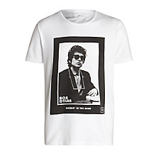 Buy Selected Homme Bob Dylan T-Shirt Online at johnlewis.com