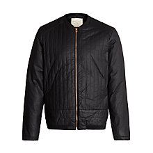 Buy Selected Homme Type Coated Canvas Jacket, Black Online at johnlewis.com