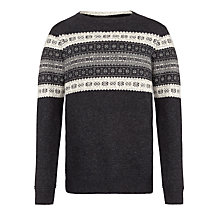 Buy Selected Homme Aden Crew Neck Jumper, Dark Grey Online at johnlewis.com