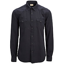 Buy Selected Homme One Treat Shirt, Caviar Online at johnlewis.com
