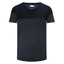 Buy Selected Homme Peterson Knitted T-Shirt, Navy Online at johnlewis.com