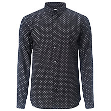 Buy Selected Homme One Doug Dot Shirt, Caviar Online at johnlewis.com