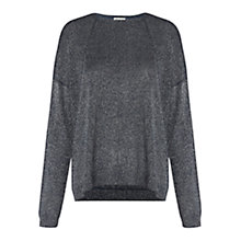 Buy Whistles Sophie Sparkle Jumper, Navy Online at johnlewis.com