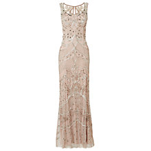 Buy Phase Eight Alessandra Embellished Full Length Dress, Nude/Silver Online at johnlewis.com
