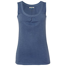 Buy White Stuff Loopy Scoop Vest, Blue Suede Online at johnlewis.com